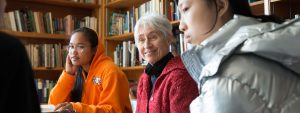 Intergenerational literary program for adults and School One students